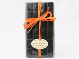 Tablette de chocolat artisanal noir-orange