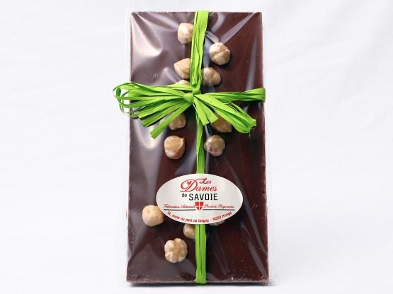 Tablette chocolat aux noisettes entières